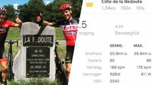 Philippe Gilbert heeft duidelijk niet stilgezeten: niemand reed ooit sneller La Redoute omhoog