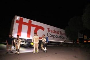 Gaslek in industriezone na ongeval met truck