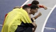 Atletiektoppers lopen estafette in Koning Boudewijnstadion