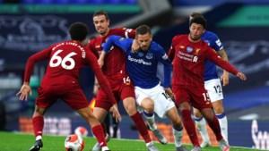 Liverpool lijdt bij hervatting competitie meteen derde puntenverlies van het seizoen in teleurstellende Merseyside-derby