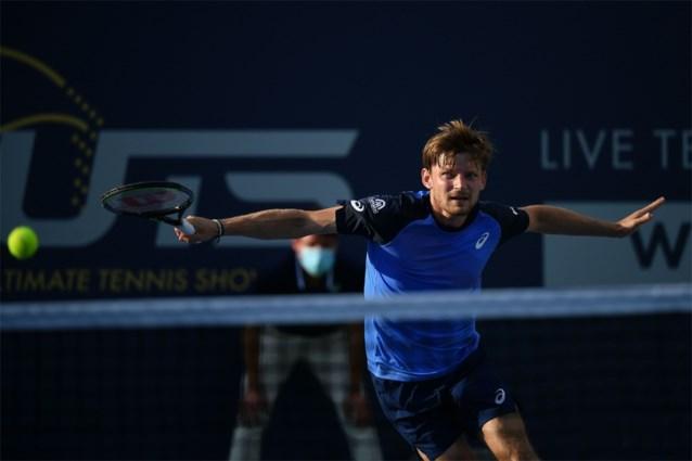 David Goffin wint met sudden death van Feliciano Lopez op Ultimate Tennis Showdown