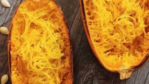 Recept voor barbecue: spaghettipompoen van Fons