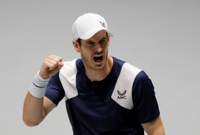 Andy Murray viert rentree met zege in demonstratietoernooi