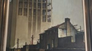 Dit schilderij toont hoe de Boekentoren werd gebouwd. Zondag gaat het onder de (digitale) hamer