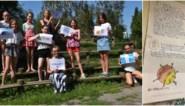 """Leerlinge (11) stuurt vertederende brief naar UZ Gent: """"Ik wil jullie bedanken voor al dat harde werk. Elleboogstootje, Marta"""""""
