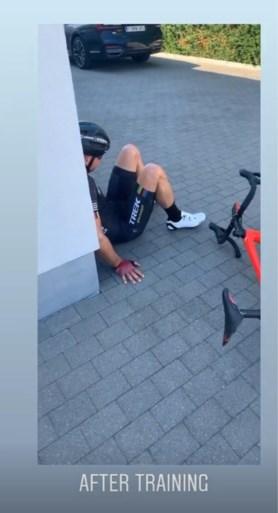 """Thibau Nys lacht met oververhitte vader Sven op Instagram: """"Hij traint zo graag met mij..."""""""