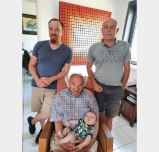 Viergeslacht bij familie Claerhout