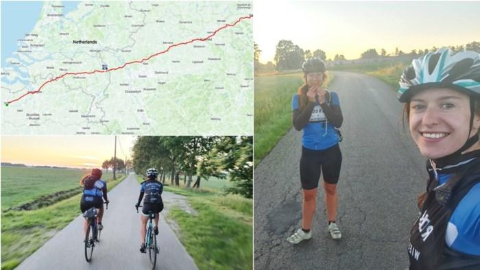 """Gentse fietsvriendinnen rijden ruim 550 kilometer in 24 uur: """"Ondanks frontale botsing met Duitser"""""""