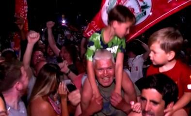 Liverpool-supporters komen met honderden op straat na het winnen van kampioenstitel en lappen alle coronamaatregelen aan hun laars