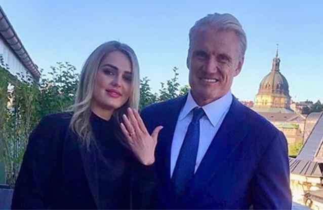 Acteur Dolph Lundgren (62) verloofd met 24-jarige