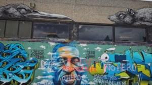 Graffitikunstwerk ter ere van George Floyd beklad