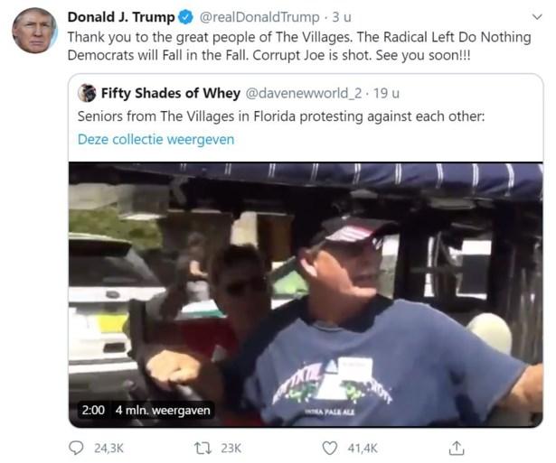 "Trump deelt video met ""white power""-slogans"