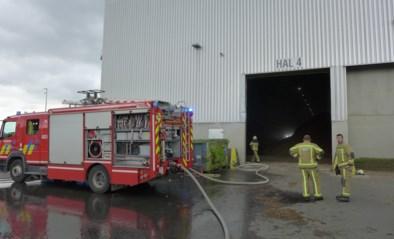 Machine vat vuur in biokrachtcentrale