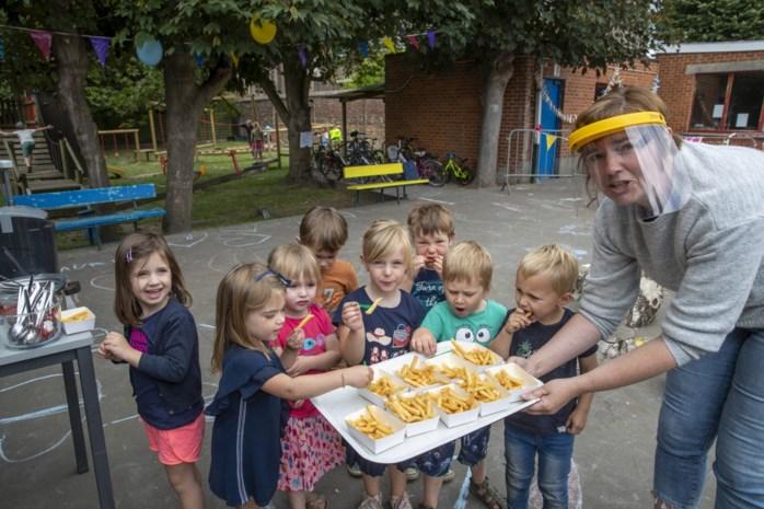Frietjes voor laatste schooldag basisschool Kerkhove