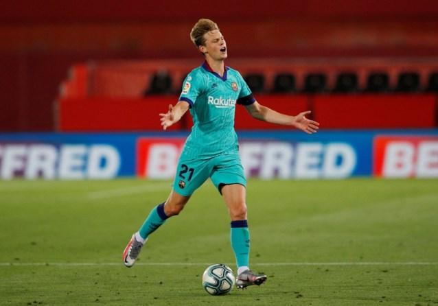 Barcelona mist Frenkie de Jong ook tijdens topper tegen Atlético Madrid