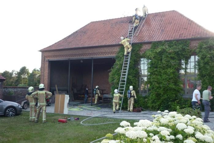 Brand in oud schoolgebouw Breucq