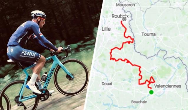 """Mathieu van der Poel dokkert eerste keer over de kasseien van Parijs-Roubaix: """"Zijn commentaar was dat het snel gaat"""""""
