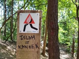 Wandelaars ontdekken haatslogans in Meetshovenbos