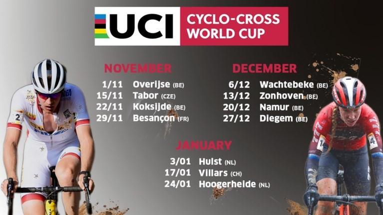 Nieuwe kalender Wereldbeker veldrijden bekend: drie crossen geschrapt
