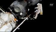 Twee Amerikaanse astronauten wandelen in de ruimte