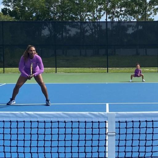 Zo moeder, zo dochter: Serena Williams en Olympia als dubbelduo