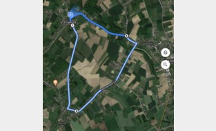 Eerste wielerwedstrijd in Attenrode