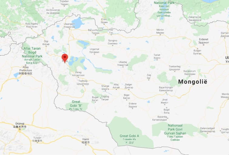 Quarantined western part of Mongolia, possibly by eating marmot meat