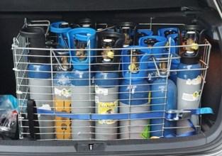 Antwerpse politie ontdekt opslagplaats voor lachgas