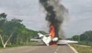 Privéjet maakt noodlanding op snelweg: militairen vinden 390 kilo cocaïne