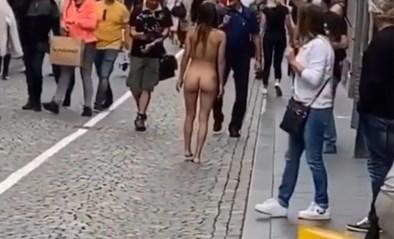 """Naakte vrouw loopt door de straten van Maastricht: """"Geen last van schaamte"""""""