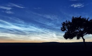Er waren afgelopen nacht prachtige lichtwolken te zien