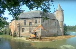 VIDEO. Na drie weken bouwen: zo kwam de dam rond het kasteel van Horst tot stand