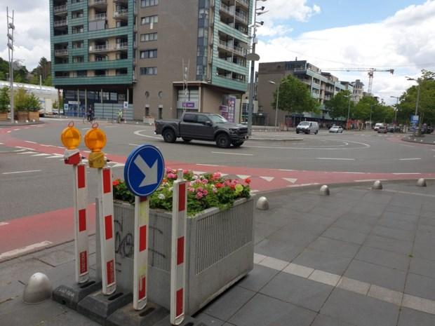 Genk test fietsveilige rotonde op drukke Europalaan