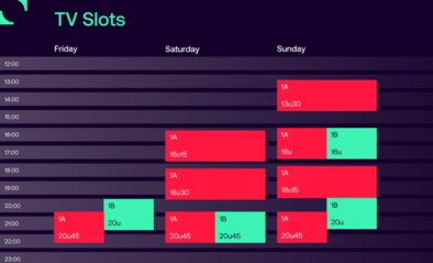Nieuwe uren voor de aftrap: zondag voetbal vanaf 13u30 in 1A, zaterdag nog maar drie wedstrijden