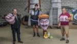 Nieuwe reus gemodelleerd naar straffe dorpscoureur: cartoonist maakt hoofd, carnavalisten boetseren zijn lijf