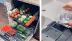 Snel groenten en fruit wassen? Deze vrouw steekt ze gewoon in de vaatwasser