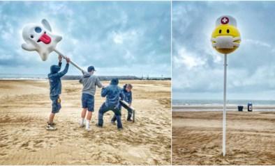 'Lachend kakske' krijgt gezelschap: nieuwe 'Zeemoji' op strand eert helden van de zorg