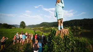 Standbeeld van Melania Trump in brand gestoken in Slovenië