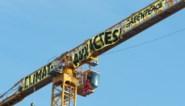 Greenpeace voert actie op hijskraan bij Notre-Dame in Parijs