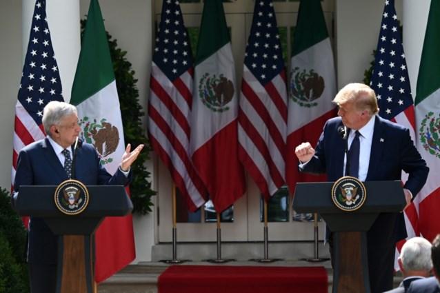 """Trump prijst """"kracht"""" van relaties tussen Verenigde Staten en Mexico"""