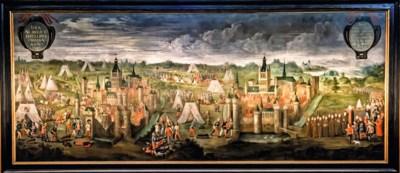 Schermutselingen, een lijk op het voorplan, Brabantse kanonskogels en Engelse pijlen: dit schilderij is een teletijdmachine