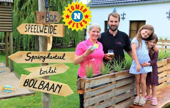 Ellen en Matthias toveren hun tuin om tot knusse zomerbar 't Hof