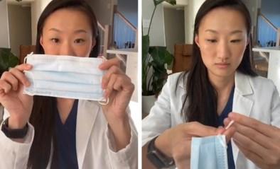 Tandarts demonstreert simpel trucje waardoor mondmasker nog meer bescherming kan bieden