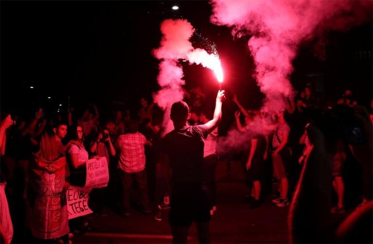 Protesten in Belgrado verlopen donderdagavond vreedzaam