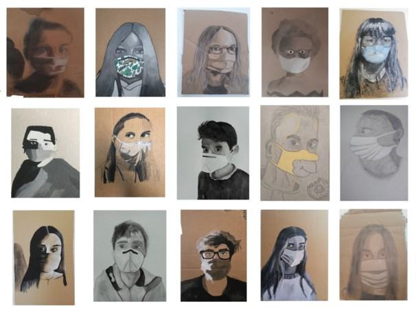 Kunstwerken moeten inwoners motiveren om maskers te dragen