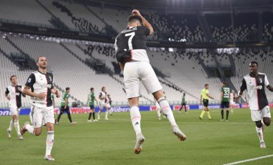 Dankzij twee strafschopdoelpunten van Ronaldo ontsnapt Juventus aan cruciale nederlaag