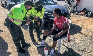 Nairo Quintana heeft de training hervat en dat is vroeger dan verwacht