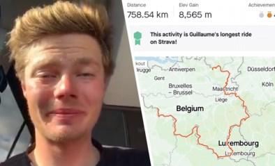 Ze vertrokken met drie maar niemand kwam aan: Belgische renner legt zichtbaar uitgeput oorzaak van mislukte tocht van 1.340 km uit