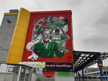 Graffitikunstwerk eert zwaar getroffen luchthavenpersoneel