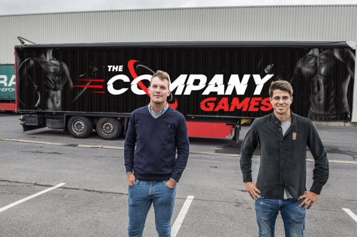 """Mathias en Louis trekken met sportcontainer naar bedrijven: """"Wie is strafste sporter?"""""""